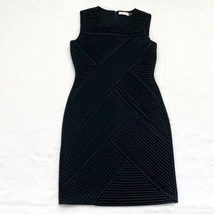 Black Calvin Klein Criss Cross Cocktail Dress